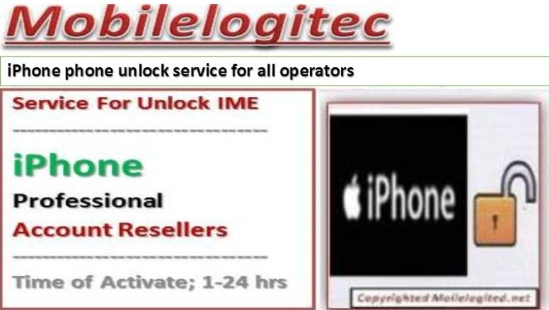 Unlock iPhone by imei with Mobilelogitec
