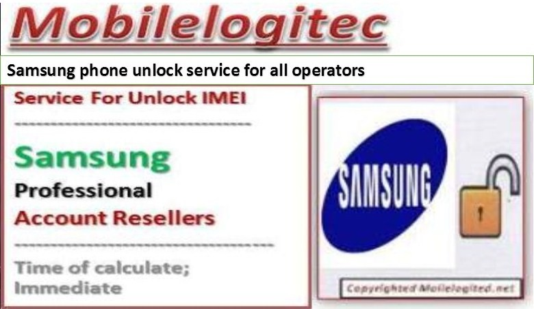 Unlock Samsung by imei with Mobilelogitec