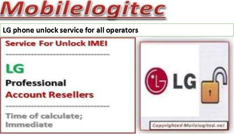 Unlock LG by imei with Mobilelogitec
