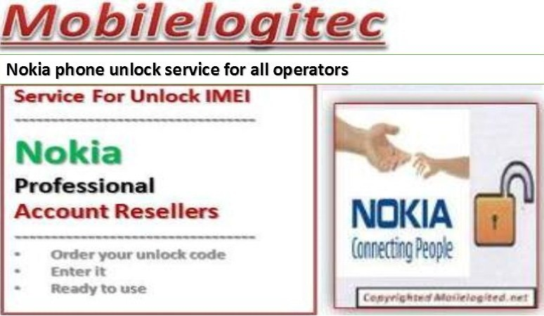 Unlock Nokia by imei with Mobilelogitec